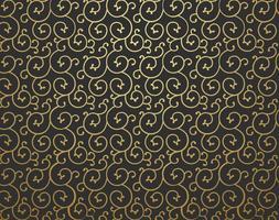 Fundo dourado Scrollwork Vector