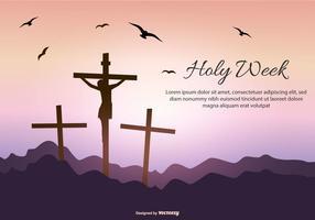 Modelo de Texto da Semana Santa vetor