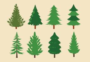 Coleção de vetores de árvores de natal ou sapin