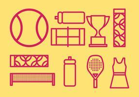 Ícones de tenis vetor