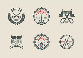 Scissors label label logo barbeiro vetor