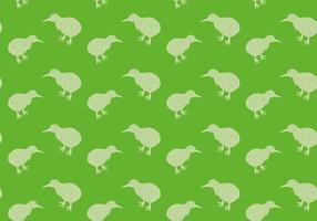 Ilustração de vetores de padrões sem costura de pássaro Kiwi grátis