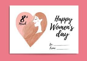 Cartão grátis do dia das mulheres vetor