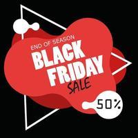 banner de venda de fim de temporada de sexta-feira negra vetor