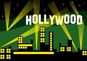 Hollywood city landscape vetor