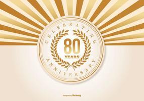 Ilustração do 80º aniversário vetor