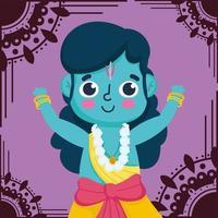 feliz festival dussehra da índia, lord rama tradicional evento vetor