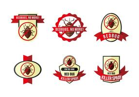Anti-bed bug label flat vector