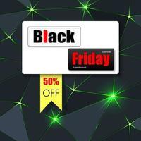 banner preto sexta-feira verde brilhante