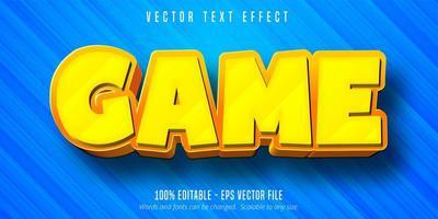 efeito de texto editável no estilo desenho animado do jogo vetor