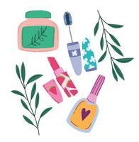 design de produtos de maquiagem e beleza vetor