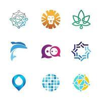 9 logotipos de animais, natureza e outros diversos vetor