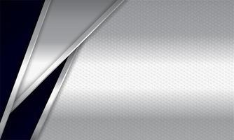 camadas angulares metálicas prateadas e pretas realistas vetor