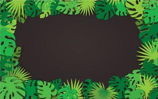 quadro de folhas tropicais com espaço de cópia