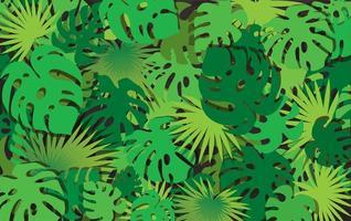padrão de folhas tropicais