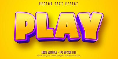 efeito de texto amarelo roxo vetor