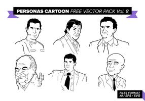 Personagens cartoon pacote de vetores grátis vol. 8