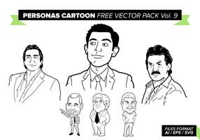 Personagens cartoon pacote de vetores grátis vol. 9