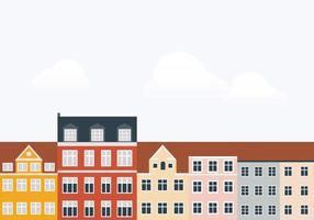 Ilustração da cidade de edifícios