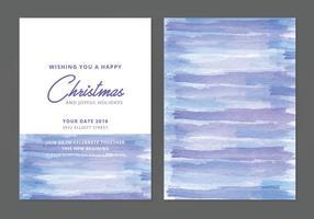 Cartão de inverno da aguarela do vetor