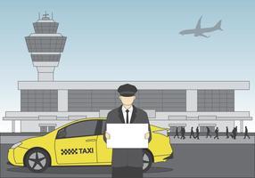 Driver no vetor do aeroporto