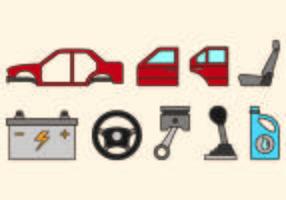Conjunto de ícones de corpo automático vetor