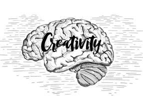 Ilustração vetorial gratuita do cérebro vetor