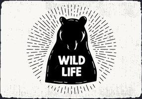 Desenho de mão livre e vida selvagem vetor