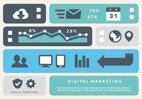 Elementos de vetor de negócios de marketing digital gratuitos