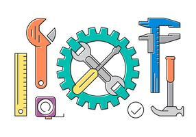 Coleção grátis com ferramentas vetor