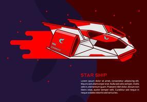 Background Starship vetor
