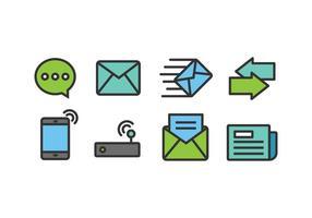 Ícones de uma comunicação vetor
