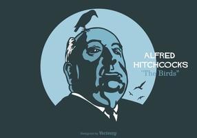 Ilustração vetorial gratuita de Alfred Hitchcock vetor