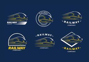 Train Logo Template Vector grátis