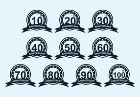 Aniversário do emblema Vector Pack