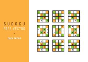 Série de pacotes vetoriais sudoku vetor