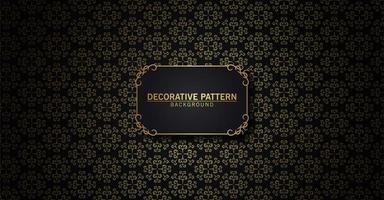 luxo padrão abstrato preto e dourado vetor
