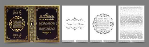 layout de livro vintage vetor