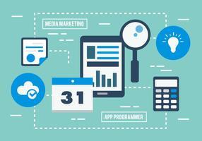 Livre Marketing Digital Business Ilustração vetor