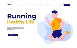 página de destino de vida saudável vetor