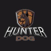 emblema caça cão esport vetor