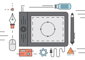 Design gráfico ilustração Desk vetor