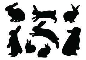 Vetores da silhueta coelho