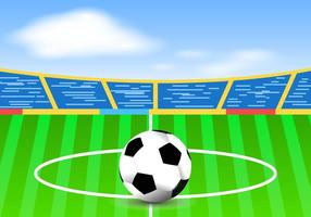 Brilhante campo de futebol vetor