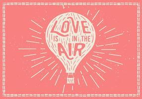 Free Hand Drawn fundo balão de ar quente Vector