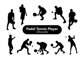 Padel silhueta do jogador de ténis vetor