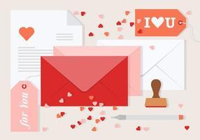 Dia Envelope do Vector Valentine livre