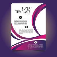 modelo personalizado de panfleto comercial roxo e rosa vetor