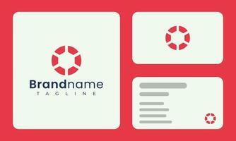 modelo de cartão de visita de logotipo de círculo abstrato