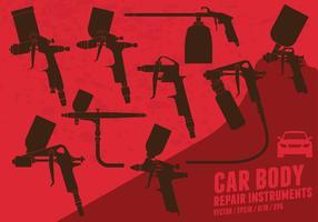 Pintura a pistola de corpo de carro vetor